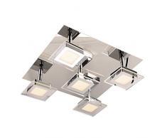 Stylehome lampada a LED da parete/soffitto con faretti (3028-5F), 3000 K (A++)