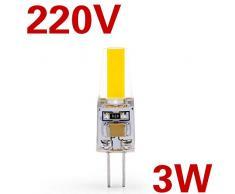 Lampadina LedLampada a LED 3W 6W G4 G9 Lampadina AC / DC 12V 220V Lampadina dimmerabile COB SMD Le luci di illuminazione a LED sostituiscono il lampadario alogeno Spotlight 5 pezzi-G4 3W 220