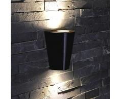 Biard - Applique da Esterno da Parete Design Conico Bidirezionale GU10 IP54 Moderno Giardino Balcone Terrazza Garage Colore Nero