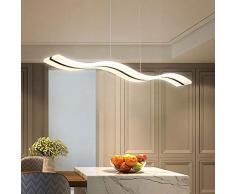 Moderna lampada a sospensione a LED, dimmerabile, moderna lampadario a LED, lampada a sospensione per soggiorno contemporaneo, sala da pranzo, cucina, tavolo (telecomando dimmerabile)