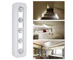Lampada da parete senza fili Super Brightness 5 LED Armadio Armadio a luce stagna Lampade Home Night Emergency Light Light bianco