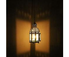 CRAFTSTRIBE Lampada marocchina di Che Passa Lanterna all'aperto Decorazione Decorativa Romantica Romantica