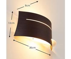 Applique da Parete interni design moderno- Lampada da muro in Metallo e Vetro- Luce diffusa ideale come applique soggiorno