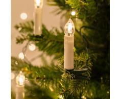 Lights4fun - Filo di 50 luci LED a candela con mollette per Albero di Natale