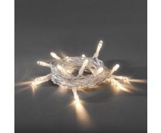 Konstsmide 1469-103 / Catena di luci LED / 30 diodi bianco caldo / a batteria / cavo trasparente