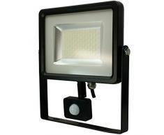 V-TAC LED SMD proiettore faretto con sensore di movimento luce bianca 6000 IP44 - sostituisce 220 W alogena VT-4820, Bianco 30.00 wattsW 230.00 voltsV