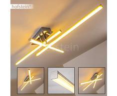 Plafoniera led moderna design elegante- Lampada da soffitto con elementi luminosi mobili- Luce Bianco caldo ideale come plafoniera salotto