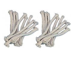iapyx® stoppini di ricambio per fiaccole in bambù fiaccola da giardino lampada a olio (18 pz)