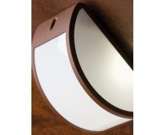 Applique mezzaluna moderna lampada da parete chiusa da esterno grigio
