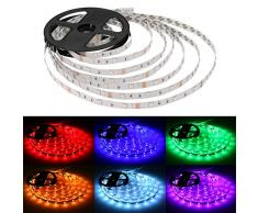 Lighting EVER 4100071-EU Striscia Luminosa LED, Multicolore , 5 Metri, 150 LEDs 5050 Luci