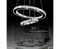 Lampadari, 2 anello 20*40 cm cristallo lampada a sospensione lampada a sospensione lampada a soffitto a LED (S40)
