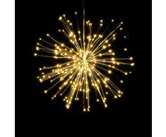 Lixada LED Fuochi dArtificio Luci Fatate Natalizie 150 LED Luci di Natale con Telecomando Lampada a Sospensione Decorativa per Feste Giardino di Cortile