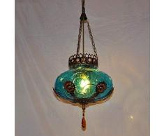 Hai Ying ♪ * Lampadario Singolo Stile Europeo mediterraneo, Lampada del candeliere della Barra della Lampada della Barra della Lampada della Luce di entrata della Boemia del Marocco, 60w ♪