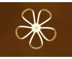DELLT- Lampadario moderno semplice Creativo LED Fiori personalizzati Soggiorno Nordic Ristorante Illuminazione Sala da pranzo Studio Lampadari in ferro battuto Lampade di illuminazione ( Colore : Luce calda )