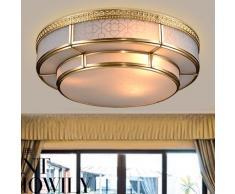 CNMKLM 3 nuovi continentale europea camera da letto tondo in ottone rame lampada lampada da soffitto luce piccole lampade di illuminazione stanza vivente in puro rame 350mm