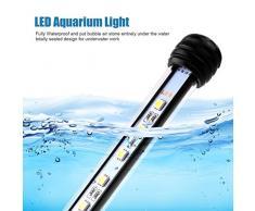 UEETEK Lampada a LED 48CM per acquario, illuminazione per serbatoi di pesce 5050 SMD RGB Light Bar lampada a sospensione subacquea subacquea - blu (standard plug Europa)