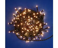 Catena 13,5 m, 300 minilampade chiare, cavo verde, con memory controller 8 giochi di luce, luci di Natale, luci per l'albero di Natale, decorazioni luminose
