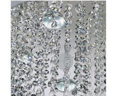 """Gowe 16 lampadine LED w31.5 """"x H68 Staircase moderno lampadario di cristallo rotondo cerchi lampadario a goccia lampadario illuminazione UE10"""