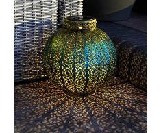 Festive Lights, lanterna da giardino marocchina, ad energia solare, lampada damasca per esterni