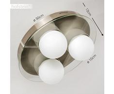 Plafoniere Per Soggiorno Classico : Plafoniere moderne hofstein color bianco da acquistare online su