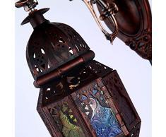 Omped mediterraneo europeo Marocco arte ferro retrò Lampada da parete a luce del corridoio