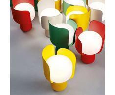 Fontana Arte lampada da tavolo Blom rosso