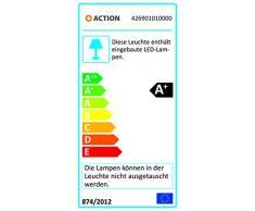 Action, Faretto da parete a 1 luce, 5 Watt, classe di efficienza energetica A+, 400 lumen