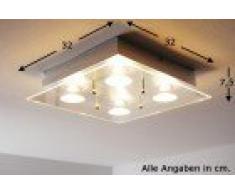 Plafoniera Quadrata Vetro Satinato : Silvenlight plafoniera led quadrata vetro extra chiaro lucido