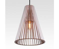 Lampada a sospensione cono in legno – moderna Designer PLAFONIERA – 8 colori nero