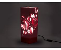 W-Lamp Wl146Amo Love Lampada Arredo, Carta, Crema, 11 X 11 X 32 cm