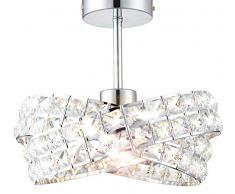 design vetro cristallo design classico lampadario sospensione plafoniera soffitto Ø 30cm 1xE27 blanc bianco caldo