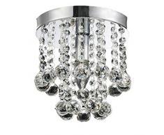 Plafoniere Per Corridoio : Plafoniere in cristallo color argento da acquistare online su livingo
