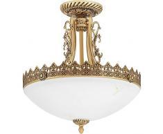 Lampada da soffitto Almuth, Classica, Country House, ottone antico, E27