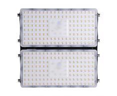 Viugreum- Settima Generazione LED Faro da Esterni Impermeabile 200W 18000 Lumen Luce Super Illuminante Bianco Caldo Modulo Illuminazione LED Faretto da Giardino