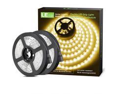 LE 2 Pezzi Striscia LED Flessibile 12V Bianco Caldo 3000K 5m 300 LEDs per Decorazione Festa Celebrazione