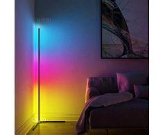 QJUZO Lampada da Terra LED, RGB Piantana da Terra Dimmerabile, Design Moderno Lampada da Letto, 20W Color Ambiance per Soggiorno Ufficio Camera da letto
