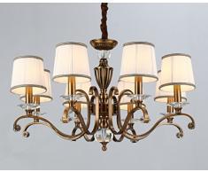 WENSENY Lampadario da soffitto pendente Ottone lucido Lampadario a candela 8 Bracci Illuminazione a goccia Ø 88cm LED 8*40W E14