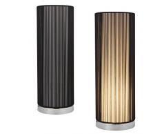 [lux.pro] Lampada da tavolo - E14 lampada cromo nero altezza 43 cm lampada da comodino lampada