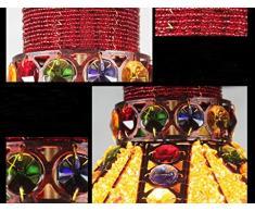 PIGE Tessuti a mano decorativi battuto lampadario in ferro caffè romantici Marocco creativo annata lampada lampadario bar bar ombrello di colore