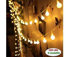 InnooTech - Catena luminosa LED Globe interno decorazione lampadina 10 Meter 100 bianco caldo DC 31 V
