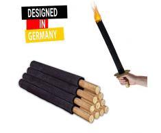 Fiaccola Torce Cera ( 11 pezzi ) 45 durata fiamma - Torce da esterno, bambini, infiammabili, fuoco, mano - Divertimento per giardino, campeggio, festa