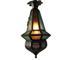 Classica Stile Marocco colorata lampada a sospensione in vetro corridoio balcone corridoio ciondolo lampade Bar Cafe lampada a sospensione Fixtures