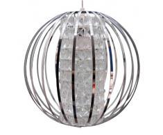 C Création Duo Brillant - Lampada a sospensione, design alla moda, illuminazione datmosfera moderno Cromo/Bianco