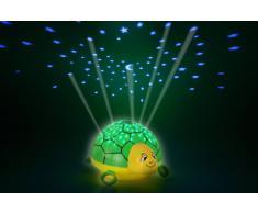 ANSMANN Luce Stellare Tartaruga con Musica - Luce Notturna a LED - Proiettore Cielo Stellato - Luce d Atmosfera, plastica, verde