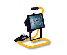 Proiettore faretto alogeno 500W lampada IP55 supporto portatile esterno 62604
