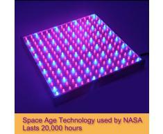 Shopinnov - Lampada a LED per stimolare la crescita delle piante, 14 W, 225 LED