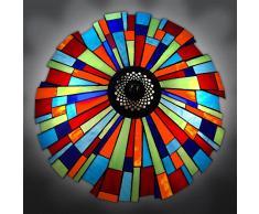 World Art, TWGS16108, Lampada da tavolo arlecchino, Lampade Tiffany, 42 x 66 x 42 Cm