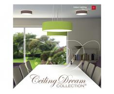 Ranex 6000.540 Ceiling Dream Collection Plafoniera Moderna E14, Marrone, 30 cm