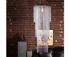 Lampadario cascata altezza 150cm strass lounge anni 70 lampada gocce soffitto