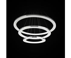 Moderna Plafoniera LED Design Spirale lampadario lampada a sospensione metallo